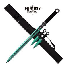 FANTASY MASTER FM-644GN GREEN NINJA SWORD KUNAI COMBO - Swords of Might