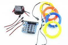 The EL Shield Kit gives you whole solution to use the EL wires. It includes all the necessary modules: EL wires and EL control Shield to make it possible to control the EL via Arduino. Control, Arduino, Channel, Wire, Display, Board, Easy, Floor Space, Billboard