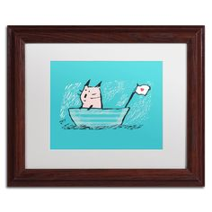 'Sweet Sailor Cat' by Carla Martell Matted Framed Art