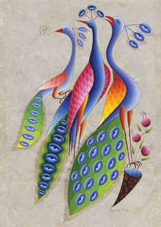 Peacock Gathering ~ Seeroon Yeretzian