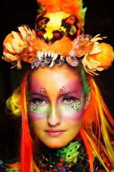 Artist: Kate Rohde Who needs a costume, all you need is glitter and face makeup.