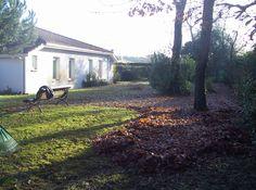 ramassage de feuilles dans une résidence