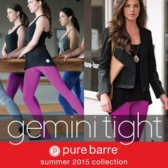 Our Gemini Tight is a #PureBarre class staple — now you can find this 3-in-1 capri/tight in a vibrant Flora! Available in studios now.