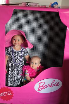 "Barbie Birthday party box for photos~~ Let's FOLLOW each other....the more we share the more creative we will become. ""  Christy Tusing Borgeld."