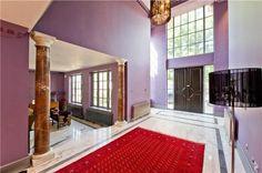 purple entrance hall
