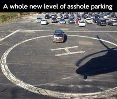 A whole new level of bad parking...