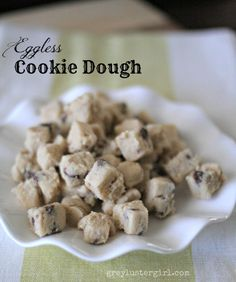 Eggless Cookie Dough....this is awesome!