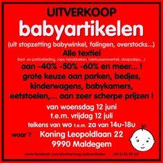 Grote leegverkoop babyartikelen -- Maldegem -- 12/06-12/07
