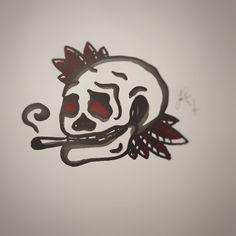 Smoking Skull - Jesse A'Vard