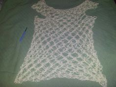Summer solomons knot tank i made cotton ease yarns. Wear with tee shirt.