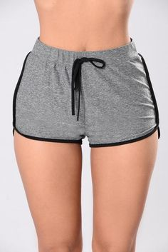 Just Kickin' It Shorts - Charcoal/Black