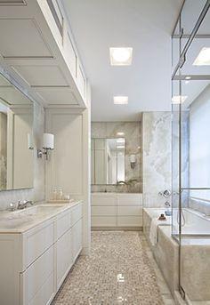 Shelton Mindel. Elegant but contemporary bath inspiration.