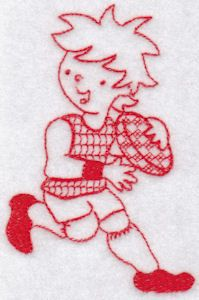 Bunnycup Embroidery | Free Machine Embroidery Designs | Sporty Boys Redwork Too