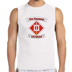 18th Engineer Brigade Veteran White Sleeveless Shirt now available! The Army Service is a 100% Polyester Gildan sleeveless shirt will keep you cool and dry all year long. Let your biceps breathe and show your military pride at the same time! Designed & Sublimated in the USA.