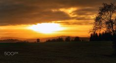 Sunset in Ore Mountains - null