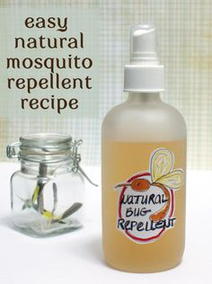 Natural Homemade Easy Bug Repellent Recipe - Effective and requires as few as TWO ingredients!