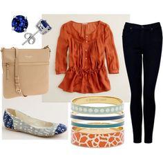 Orange/black.Kate Spade and Blue!