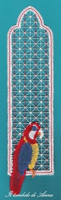 20# 13-09-10 segnalibro pappagallo by Anna's lace, via Flickr