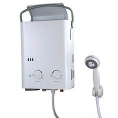 Portable Tankless Water Heater. requires you to have a spigot or a garden hose to connect to and than attaches to a standard portable propane tank using the included connector. Instant hot outdoor shower.