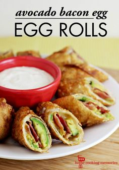 It doesn't get much better than these Avocado Bacon Egg Rolls! They are a delicious breakfast food made with only a few simple ingredients and steps, which makes them perfect for your brunch get-togethers.