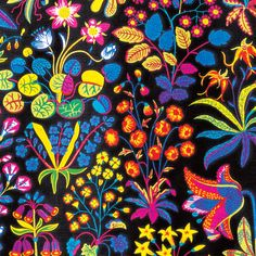 Josef Frank designed this luxurious pattern in September 1941 shortly before he moved to New York. Under Ekvatorn is one of the boldest linen cretonnes that Frank designed. With fantasy flowers that are almost recognizable, this is yet another example of Josef Frank's reflections on reality versus dreams that is so typical of his designs.