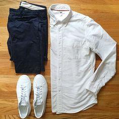 shirt: @uniqlousa trousers: @jcrewmens shoes: @commonprojects