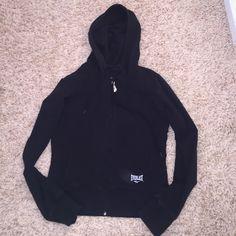 Everlast zip up hoodie Super cute black Everlast zip up hoodie. Light material, cute boxing glove zipper Everlast Tops Sweatshirts & Hoodies