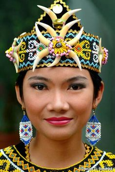 Dayak woman, Kalimantan -Indonesia