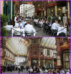 Leadenhall Market is a beautiful covered market in the City of London. Under the elegant Victorian roof there are stalls, restaurants,shops and pubs to enjoy. Harry Potter London, Harry Potter Film, London Market, London Location, Spring Break Trips, World Famous, London City, Places To See, United Kingdom