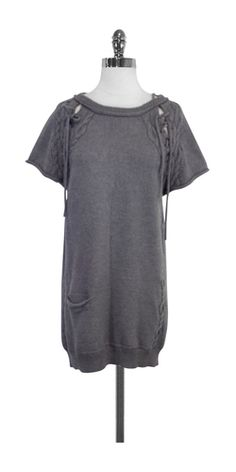 3.1 Phillip Lim Grey Wool Sweater Dress