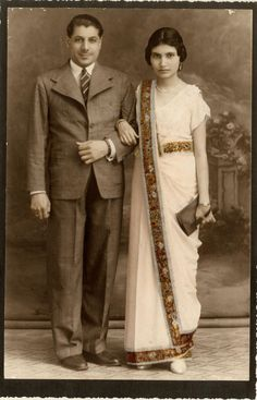 Freddie Mercury's parents on their wedding day.