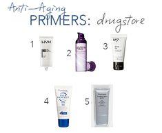 best primers for mature skin, best anti-aging primers, high end vs budget primers, best drugstore anti-aging primers, best drugstore primers. http://www.alittleofalot.net/