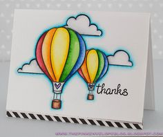 the Lawn Fawn blog: Lawn Fawn Hot Air Balloon Card by Cynde (using Blue Skies)