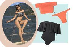 Para as férias de 2017, os tops com manguinhas e babados valorizam o colo à beira da piscina e nas areias das praias