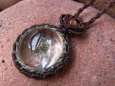 Sun Garden Sun Stone Pendant natural stone quartz from Brazil, India ×