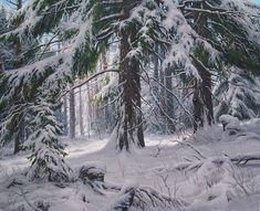 Обсуждение на LiveInternet - Российский Сервис ОнРWinter Painting, Old Trees, Snow And Ice, Winter Wonderland, Watercolor Art, Waterfall, Beautiful Places, Nature, Outdoor