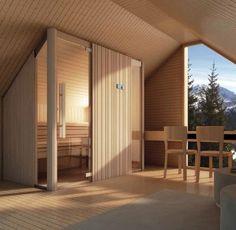 Finnische sauna AUKI EFFEGIBI massgeschneiderte variante dachboden