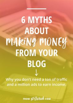 How do you go from making practically nothing from ads all over your blog to earning enough money to pay for your blogging expenses, add to your monthly income, or even turn your blog into your job? It's definitely possible, but probably not the way you imagine. Click to read 6 myths about making money from your blog AND what actually works instead.