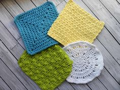 Ravelry: 4 Crocheted Washcloths pattern by Amy Dorr