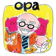 Opa leest een boekje voor aan zijn kleinkind- Greetz