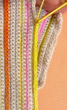 Crocheted Striped Hand Warmers   Purl Soho Purl Bee, Purl Soho, Hand Warmers, Crochet Clothes, Single Crochet, Needlepoint, Crochet Projects, Needlework, Knit Crochet