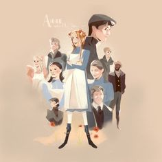 anne shirley, fanart, and gilbert blythe image Gilbert Blythe, Anne Shirley, Anne Of Green Gables, Orphan Black, Gilbert And Anne, Amybeth Mcnulty, Anne White, Anne With An E, Dibujos Cute