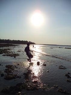 football #silhouette #beach #kupang #daylight #backlight