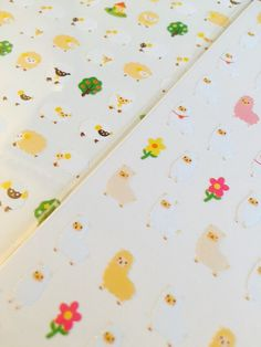One Point Seal Alpaca & Sheep Stickers. Made in Korea