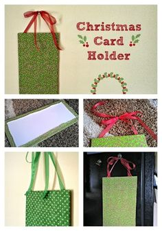 Christmas in July: Hanging #DIY #Christmas Card Holder  #craft with Photo Tutorial