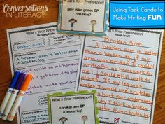 What's Your Preference?  Teaching Opinion Writing using task cards to go through the writing process!