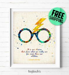 Harry Potter print Quote print Harry Potter by NeighborArts