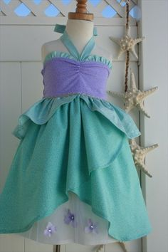Ariel The Little Mermaid Sun Dress Custom by boutiqueolliegirl