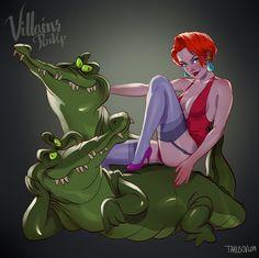 Vilãs da Disney versão pin up Medusa