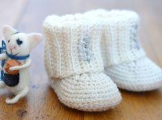 Mini Uggs with Rib Cuffs crochet by Matilda's Meadow